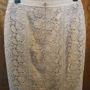 Ann Taylor Luxury Lace Pencil Skirt